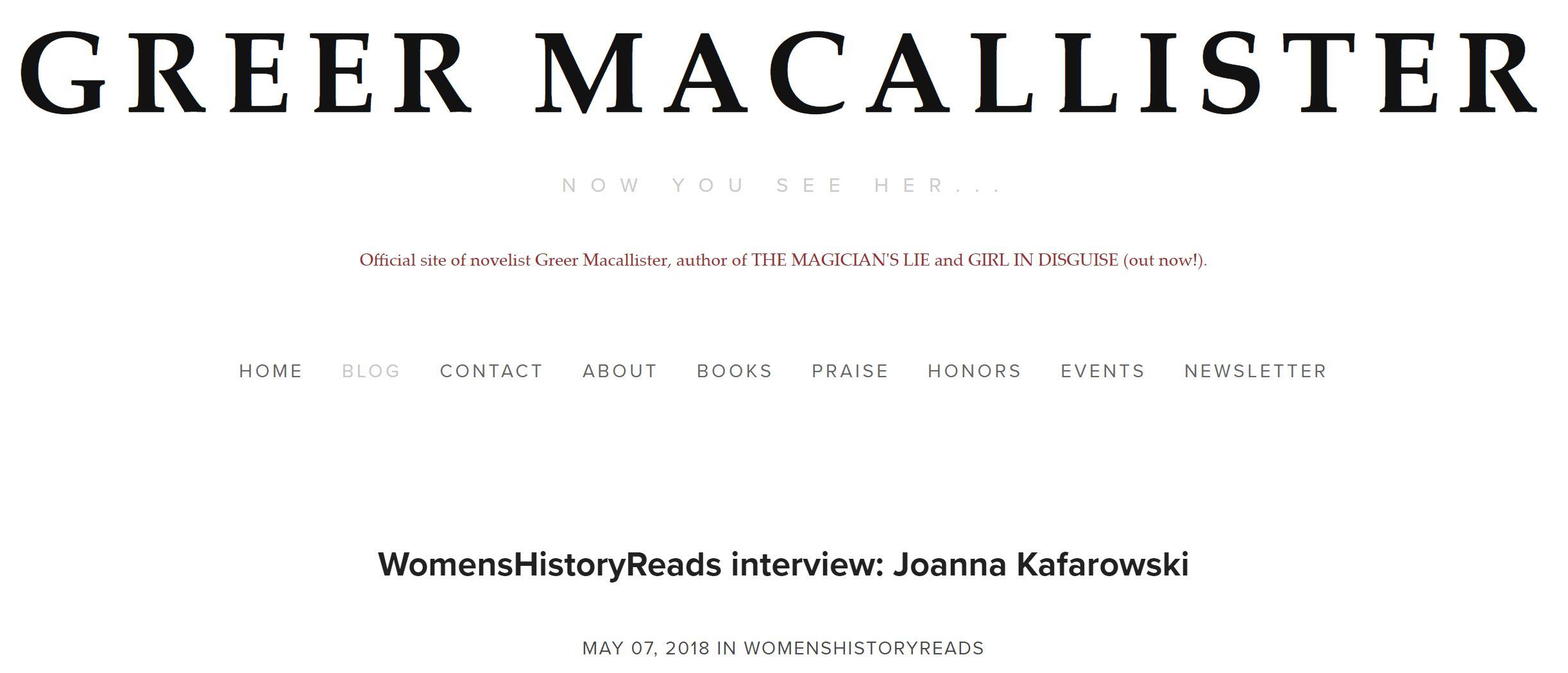 Greer McAllister Blog